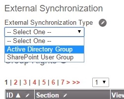 Editing a group's security permissions